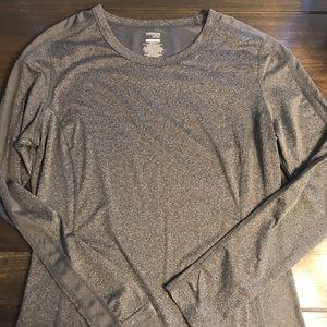 Danskin Now Grey Long Sleeve Athletic Shirt
